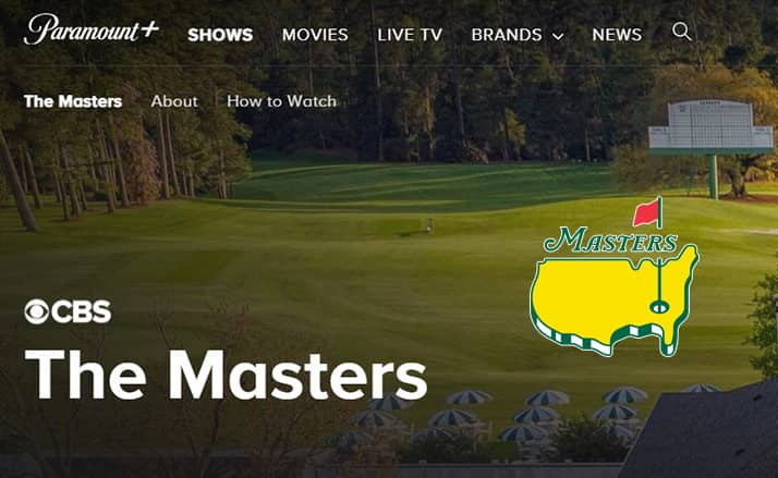 Masters live on Paramount+