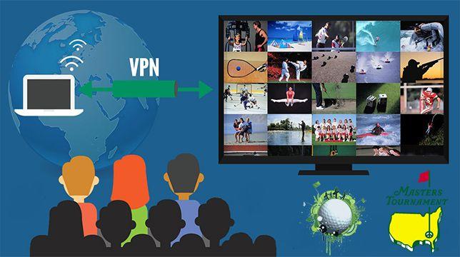 Masters golf live vai VPN